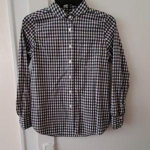 J Crew cotton gingham club collar boy shirt 2P